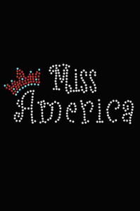 Miss America with Crown - Women's T-shirt