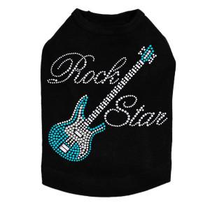 Guitar (Blue Swarovski) & Rock Star Dog Tank