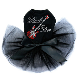 Guitar (Red Swarovski) with Rock Star Tutu