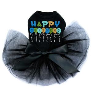 Happy Birthday Balloons (Blue) - Tutu