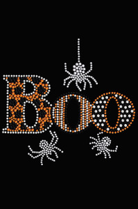 Boo with Silver Spiders - Women's T-shirt