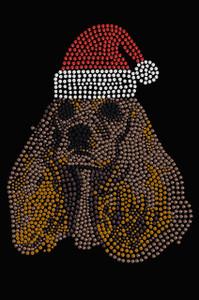 Cocker Spaniel with Santa Hat - Black Women's T-shirt
