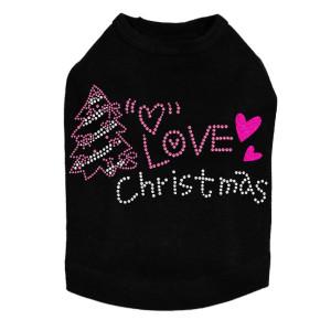 Love Pink Christmas - Black Dog Tank