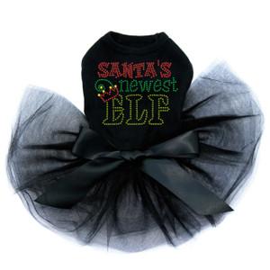 Santa's Newest Elf - Black Tutu