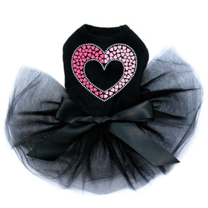 Pink & Light Pink Nailhead Hearts - Dog Tutu