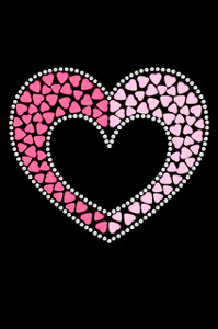 Pink & Light Pink Nailhead Hearts - Women's T-shirt