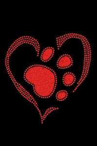 Red Paw Heart - Women's T-shirt