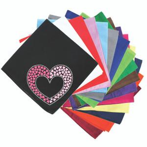 Pink & Light Pink Nailhead Hearts - Bandanna