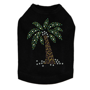 Coconut Tree - Green dog tank for small and big dogs
