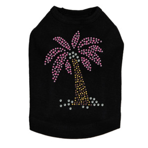 Coconut Tree - Pink dog tank for small and big dogs