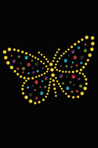 Yellow Dotted Butterfly - Women's T-shirt