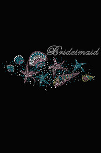Bridesmaid with Seashells- Women's T-shirt