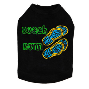 Beach Bum with Flip Flops - Dog Tank