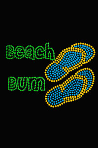 Beach Bum with Flip Flops - Women's T-shirt