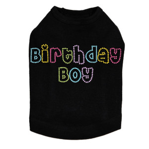 Birthday Boy (Multicolor) - Dog Tank