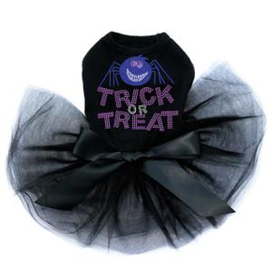 Trick or Treat with Blue Glitter Spider - Tutu