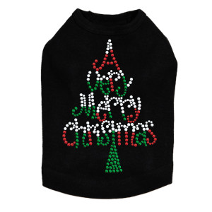 Have a Very Merry Christmas (Opaque Stud) Christmas Tree - Dog Tank