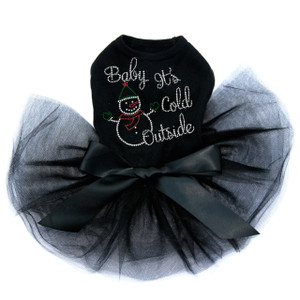 """Baby It's Cold Outside"" Snowman - Dog Tutu"