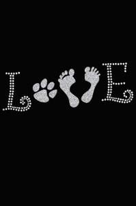 Love with Paw & Feet - Women's Tee