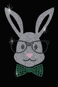 Bunny with Glasses and Bow Tie - Women's Tee