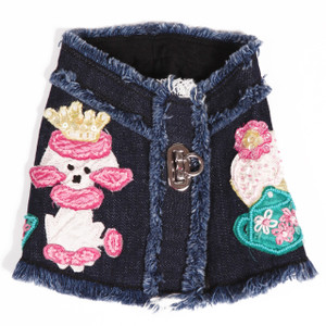 The London Tea Party Denim Harness Vest