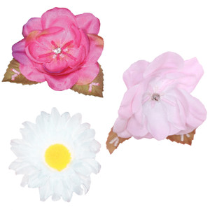 Additional Silk Flower Pins for Tutus