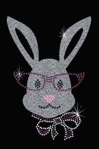 Girl Bunny with Glasses and Bow  - Women's Tee