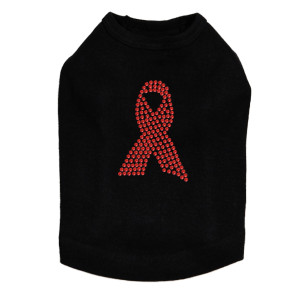 Ribbon (Red Rhinestones) Dog Tank