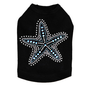 Iridescent AB Starfish - Dog Tank