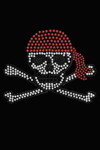 Skull with Red Bandanna - Women's T-shirt