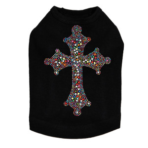 Cross (Multicolor) Dog Tank