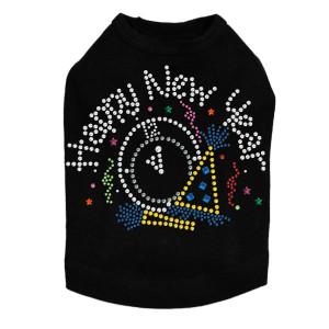 Happy New Year Clock - Dog Tank