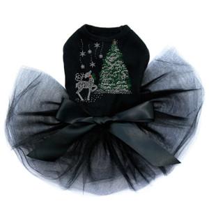 Christmas Tree with Reindeer - Black Tutu