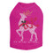 Reindeer with Red Bow - Fuchsia Dog Tank