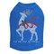 Reindeer with Red Bow - Royal Blue Dog Tank