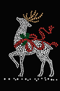 Reindeer with Red Bow - Women's Tee