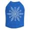 Extra Large Snowflake - Royal Blue Dog Tank