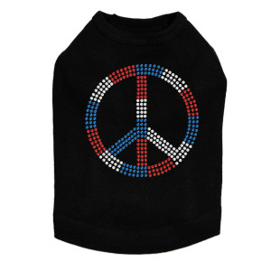 Peace Sign (Red, White, & Blue) Dog Tank