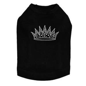Crown # 2 - Rhinestones - Dog Tank