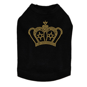 Crown #10 - Gold - Dog Tank