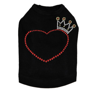 Heart with Crown - Dog Tank