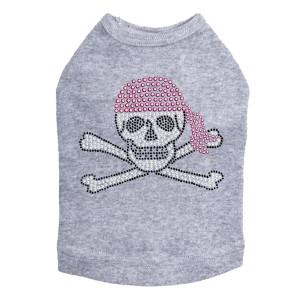 Skull with Pink Bandanna - Dog Tank