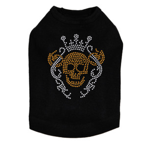 Gold Skull with Crown - Dog Tank