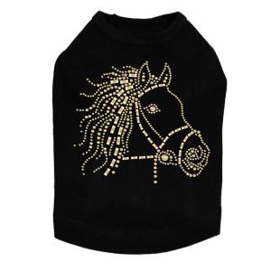 Horse Face (Gold) - Dog Tank