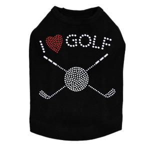 I Love Golf (Small) - Dog Tank
