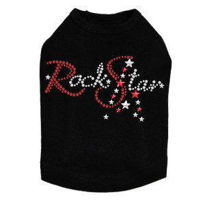 Rock Star (Red - Swarovski Rhinestones) Dog Tank