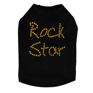 Rock Star (Gold) Dog Tank