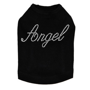 Angel rhinestone dog tank for large and small dogs.