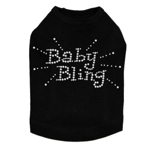 Baby Bling Dog rhinestone dog tank for large and small dogs.