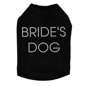 Bride's Dog rhinestone dog tank for large and small dogs.